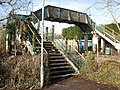 Footbridge, Rhiwbina railway station, Cardiff - geograph.org.uk - 1717126.jpg