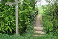 Footbridge and sign - geograph.org.uk - 417177.jpg