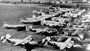 Wauwilermoos internment camp - USAAF B-17 and B-24 bombers interned at Dübendorf airfield