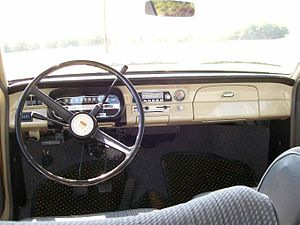 Ford Taunus P6 - Ford 12M: what the driver saw in 1967.