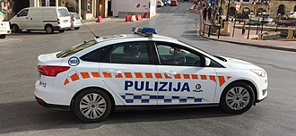 The Malta Police Force - Rapid Intervention Unit vehicle
