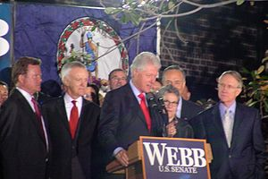Jim Webb - Former President Bill Clinton, Senate Minority Leader Harry Reid, Senator Chuck Schumer, and former Senator Bob Kerrey campaign for Jim Webb's bid for U.S. Senate
