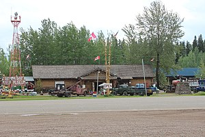 Fort Nelson, British Columbia - Fort Nelson Heritage Museum located on the Alaska Highway
