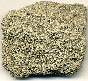 Phosphorite - Fossiliferous peloidal phosphorite, (4.7 cm across), Yunnan Province, China.