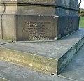 Foundation stone, Boer War Memorial, West View Park, Skircoat, Halifax - geograph.org.uk - 1227847.jpg