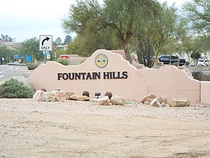 Fountain Hills, Arizona - Image: Fountain Hills Fountain Hills Entrance