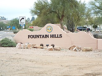 Fountain Hills, Arizona - Image: Fountain Hills Fountain Hills Entrance