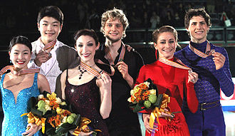 2011 Four Continents Figure Skating Championships - Ice dancing podium