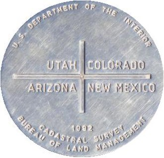Trail of the Ancients - Four Corners marker