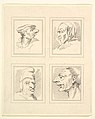 Four Heads (from Characaturas by Leonardo da Vinci, from Drawings by Wincelslaus Hollar, out of the Portland Museum) MET DP824107.jpg