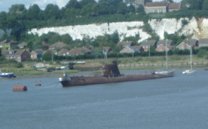 Foxtrot class submarine at Strood.png