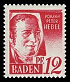 Fr. Zone Baden 1948 18 Johann Peter Hebel.jpg