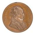 Framsida av medalj med läkaren Christoph Wilhelm Hufeland, 1833 - Skoklosters slott - 99322.tif