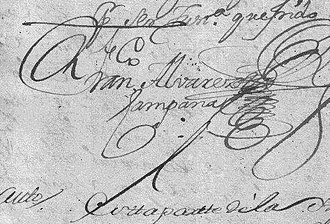 Francisco Álvarez Campana - Image: Francisco Alvarez Campana (firma)