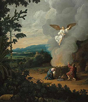 Brasilian landscape with Manoah's sacrifice