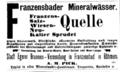 Franzensbader Mineralwasser A.M.Pick reklama 1895.png