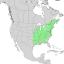 Fraxinus americana range map 1.png