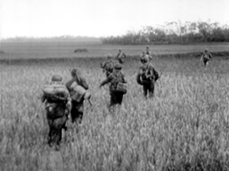 French Far East Expeditionary Corps - Colonial paratroopers in the delta area of northern Vietnam (1952)