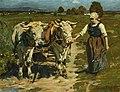 Friedrich Fehr Bauernmädchen mit Gespann in der Eifel 1925.jpg