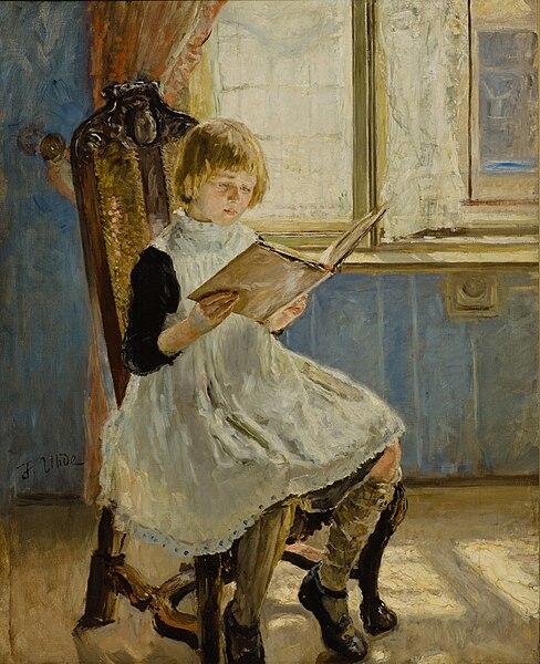 File:Fritz von Uhde - Das Bilderbuch I (1889).jpg