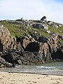 Frog shaped rock formation at Oldshoremore beach - geograph.org.uk - 1025127.jpg