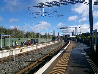 Fruitvale Road railway station - Image: Fruitvale Rd Station in 2014