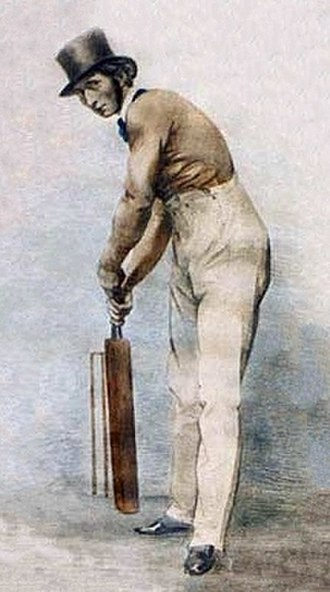 Kent County Cricket Club - Fuller Pilch, who was signed by the Town Malling club