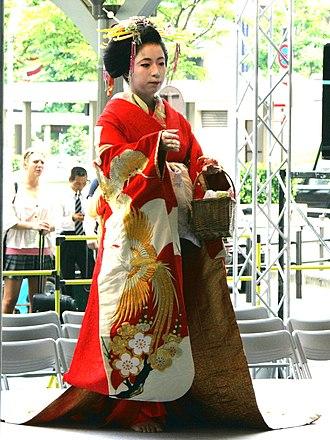 Oiran - A present-day tayū trainee from Shimabara, Kyoto.