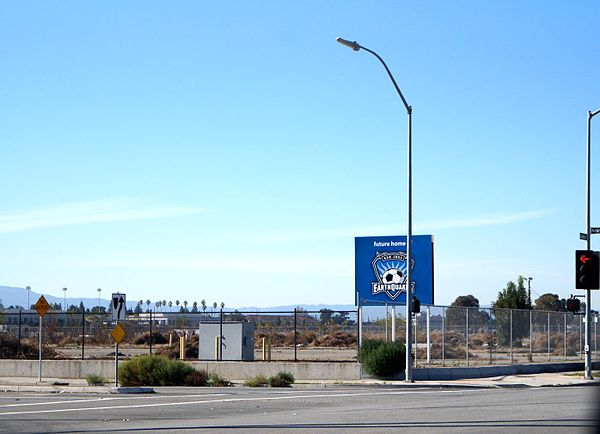Stadium site before construction. Future home of quakes.JPG