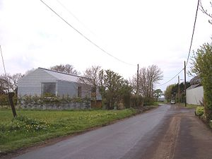 Barton, West Lancashire - Image: Futuristic house at Barton on Station Road (geograph 2899119)