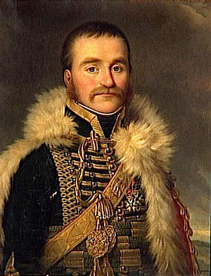 Chasseurs à Cheval de la Garde Impériale - General Nicolas Dahlmann who died at the battle of Eylau, leading the Chasseurs of the Guard.