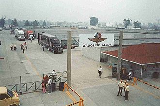 1986 Indianapolis 500 - The new Gasoline Alley garage area at the Indianapolis Motor Speedway