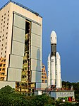 GSLV-Mk III-D1 being moved from Vehicle Assembly Building to second launch pad.jpg