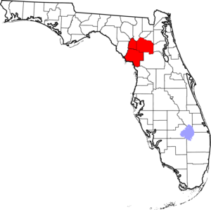 North Central Florida - Location of the Gainesville Metropolitan Statistical Area in Florida