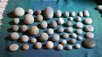 Giant's kettle - Collection of pebbles shaped in giant's kettles