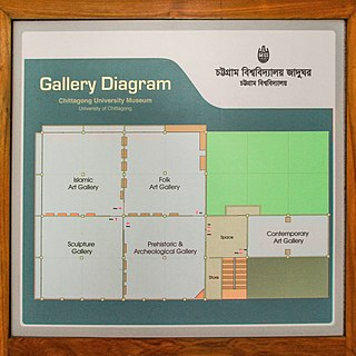 Gallery Diagram of Chittagong University Museum.jpg