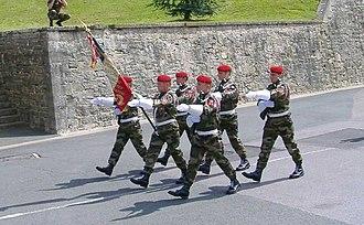 1st Marine Infantry Parachute Regiment - The Regimental Color Guard of the 1er R.P.I.Ma