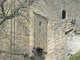 Garderobe - The garderobe at Peveril Castle, Derbyshire, England