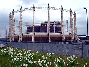 Beckton - Image: Gas holders at Beckton geograph.org.uk 89029