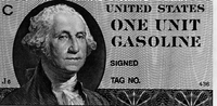 Gas coupon printed but not used in 1979's oil crisis