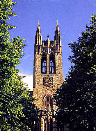 Boston College - Gasson Tower viewed from Linden Lane