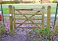 Gate from Broome Manor Lane to footpath adjacent to golf course - geograph.org.uk - 1082435.jpg