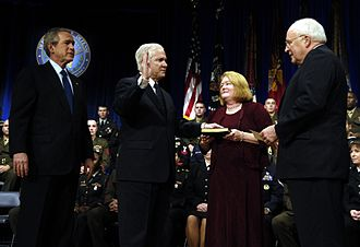Robert Gates - Gates being sworn in as Defense Secretary on December 18, 2006.