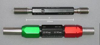 Go/no go gauge - Replaceable thread and plug gauges