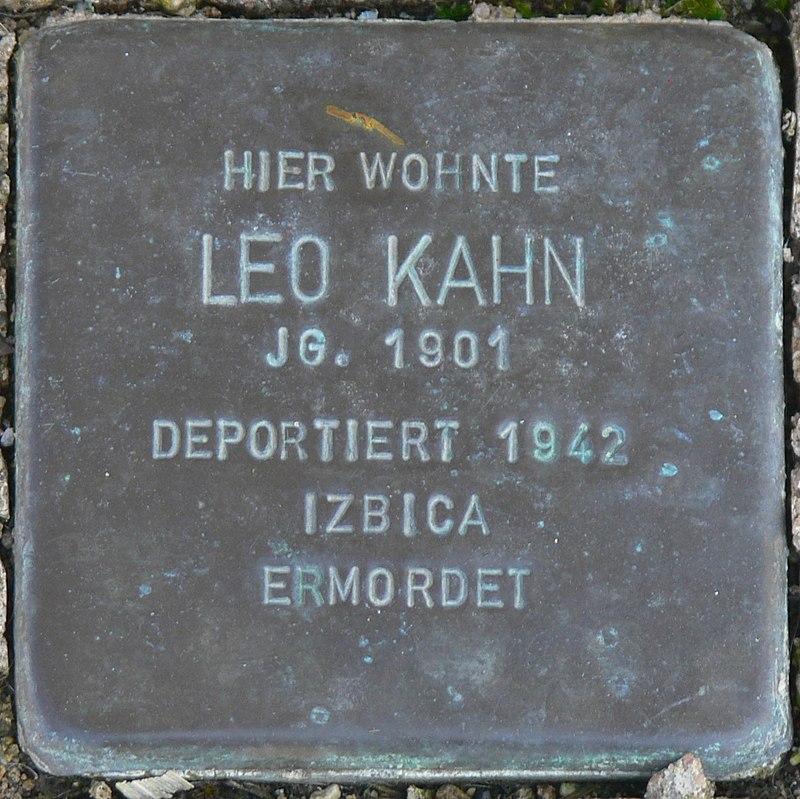 Gaukönigshofen Stolperstein Kahn, Leo.jpg