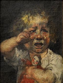 Gebhard Fugel Kleines Mädchen weinend