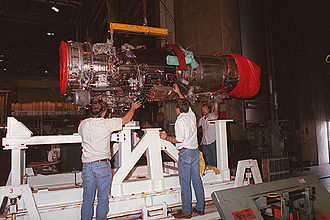General Electric F414 - Image: General Electric F414 AEDC 93 206711 USAF