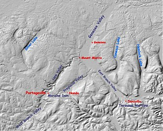 Glacial geology of the Genesee River - Image: Genesee river