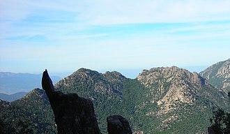 Sulcis Mountains - Monte Genna Strinta see from Monte Lattias.