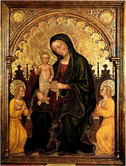 Madonna with Child and Two Angels